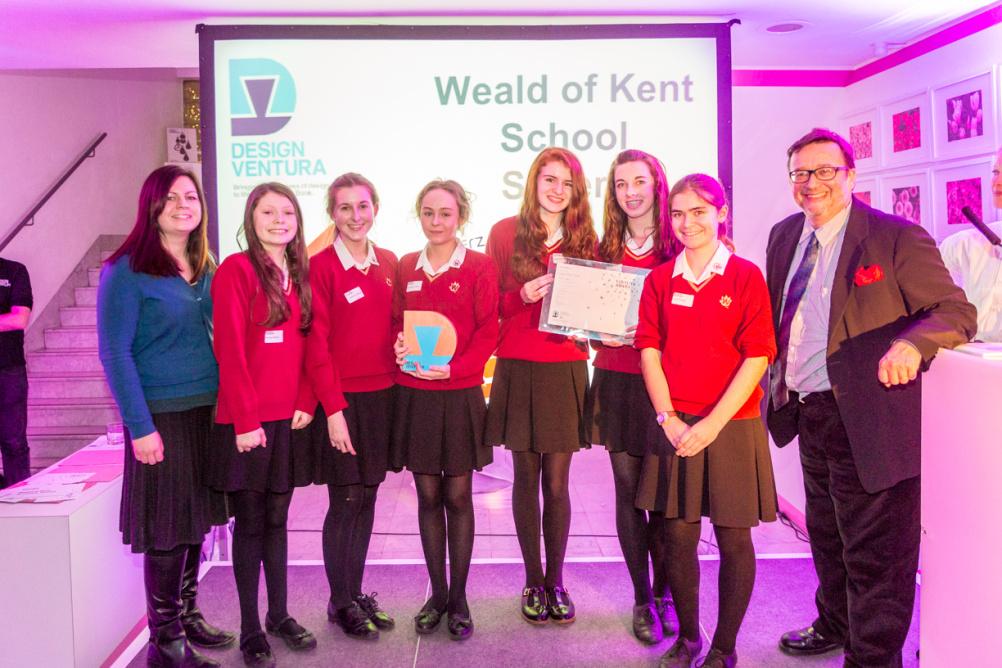 The winning team from Weald of Kent Grammar School