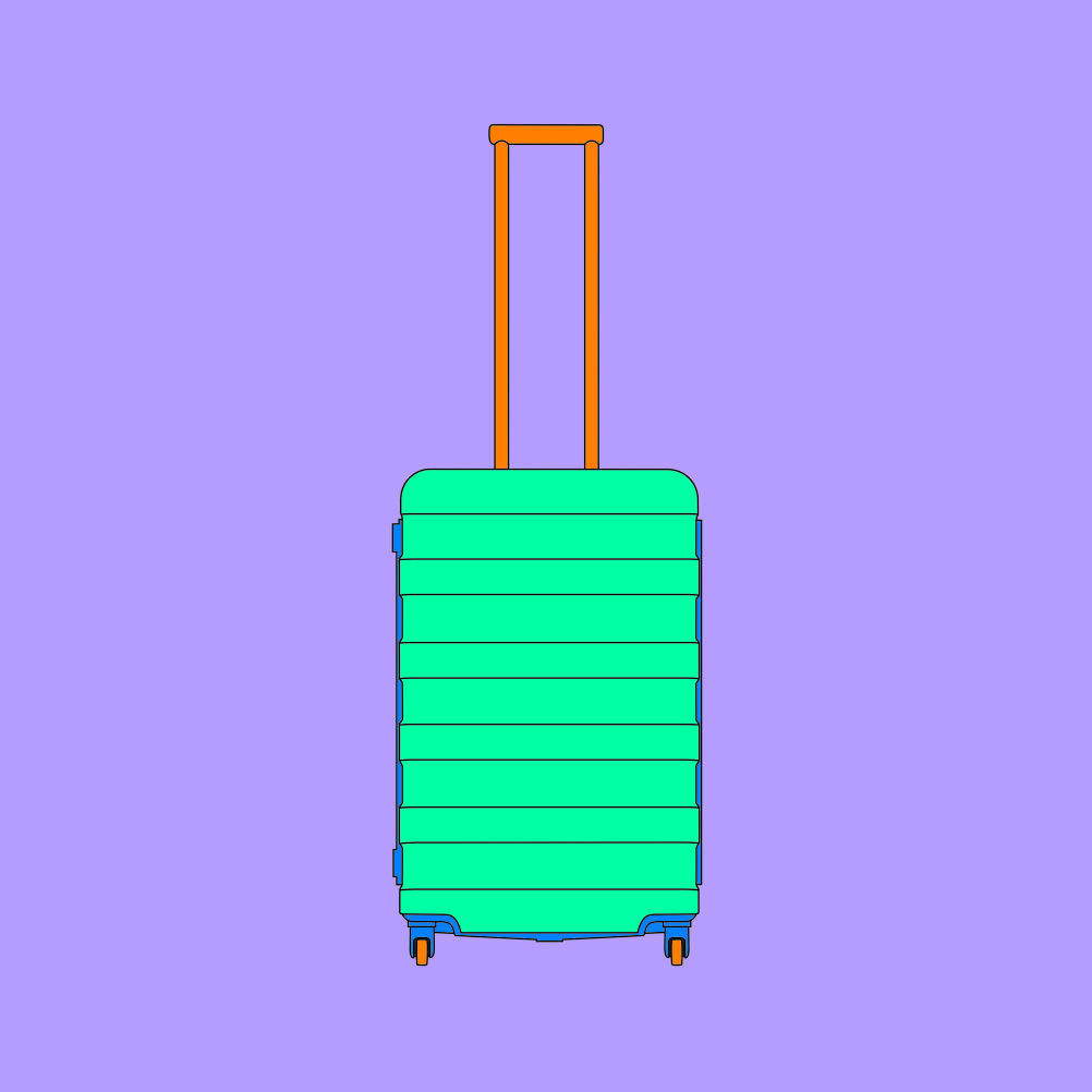 Michael Craig-Martin, Objects of our Time - 4 Wheel Suitcase, 2014