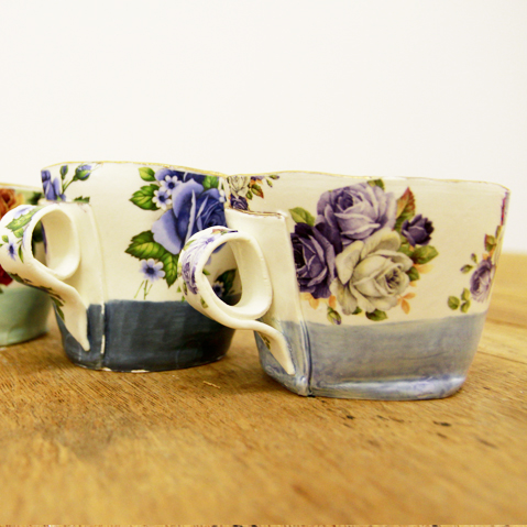 Alice Duck, floral cups