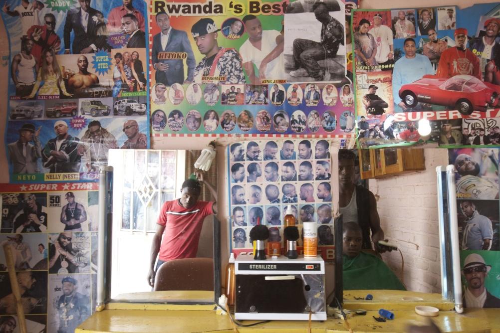 A barbers in Rwanda