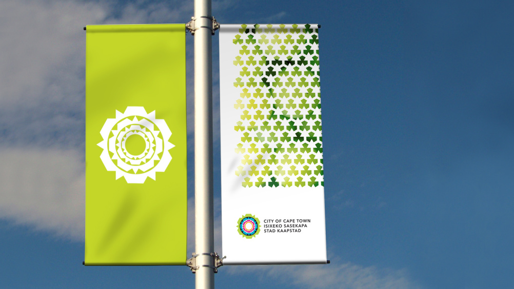 Cape Town identity on banners
