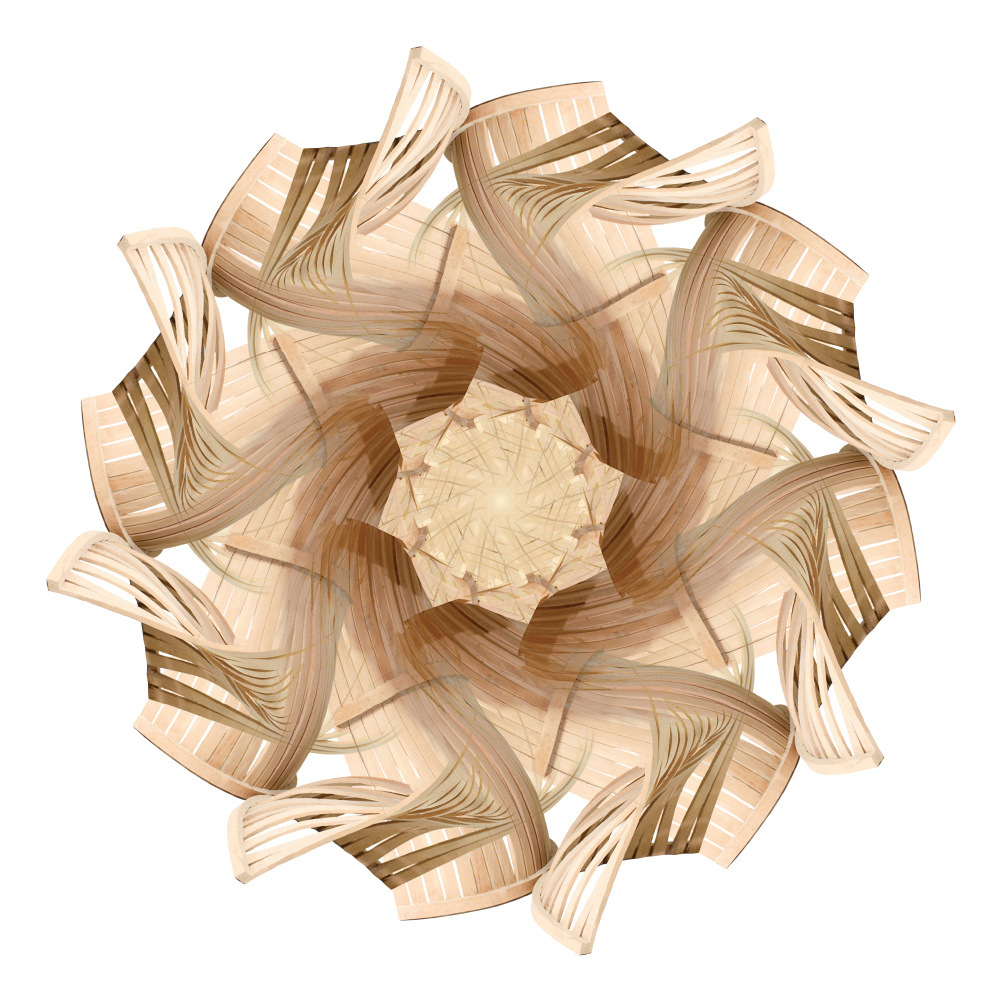 Kaleidoscope made from Creek armchair designed by Sandro Lopez and produced by Sergio Studer