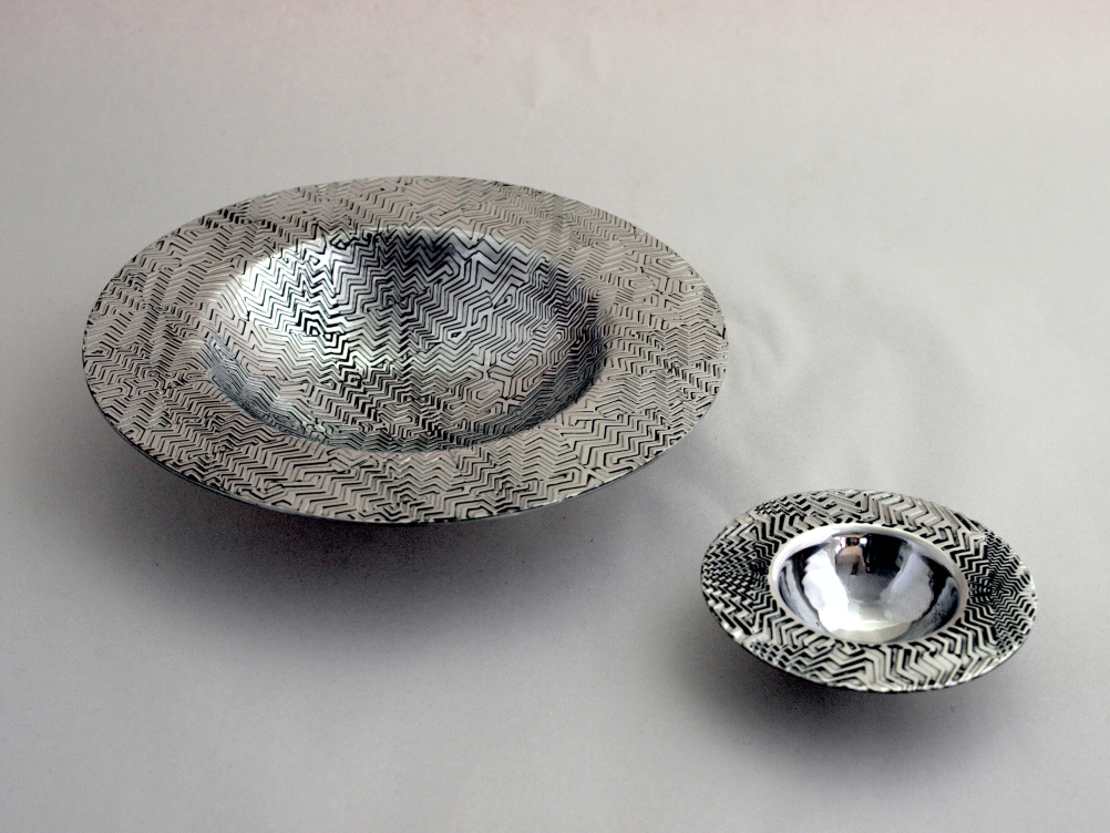 Gordon W Robertson, Red Room Spun Pewter Bowls