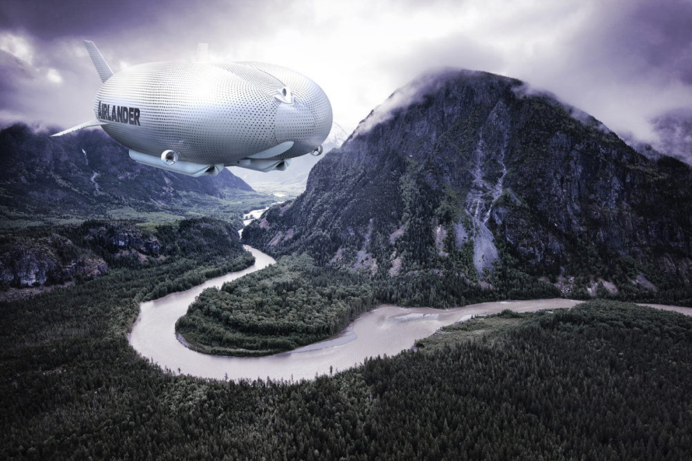 CGI of the Airlander in flight