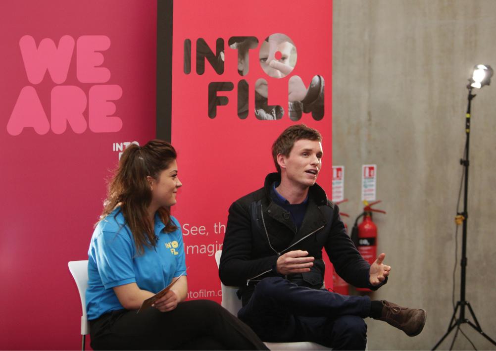 Into Film graphics for Eddie Redmayne interview