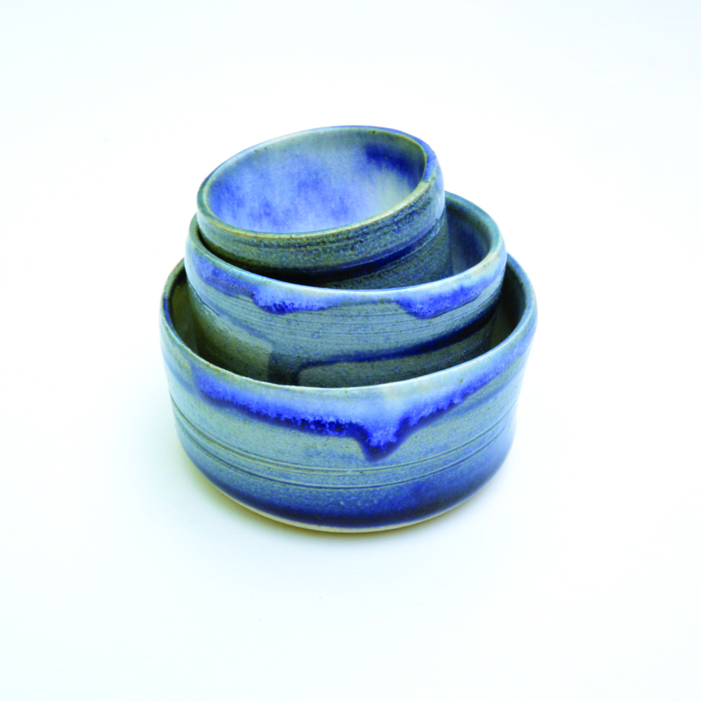 Hand-made pots by design advisor Lynne Elvins