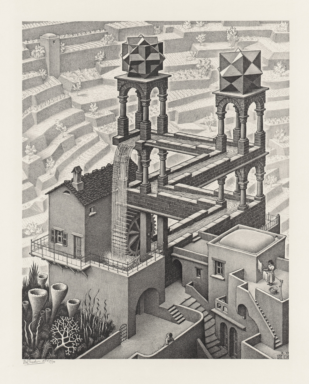 M C Escher's Waterfall