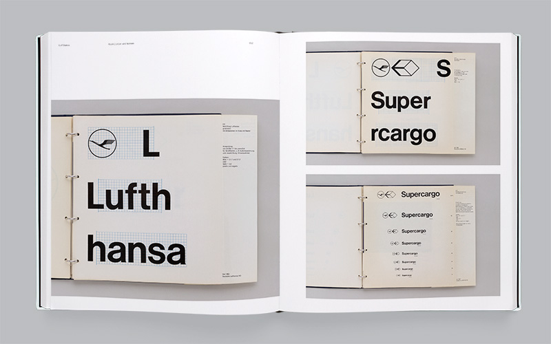 Lufthansa identity, by Otl Aicher and Gruppe E5