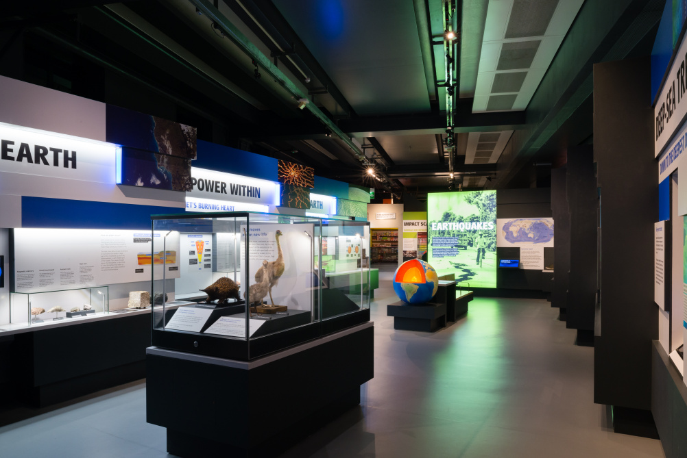 Volcanoes and Earthquakes exhibition
