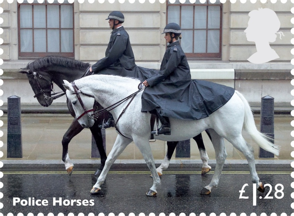 Police horses feature on this £1.28 stamp