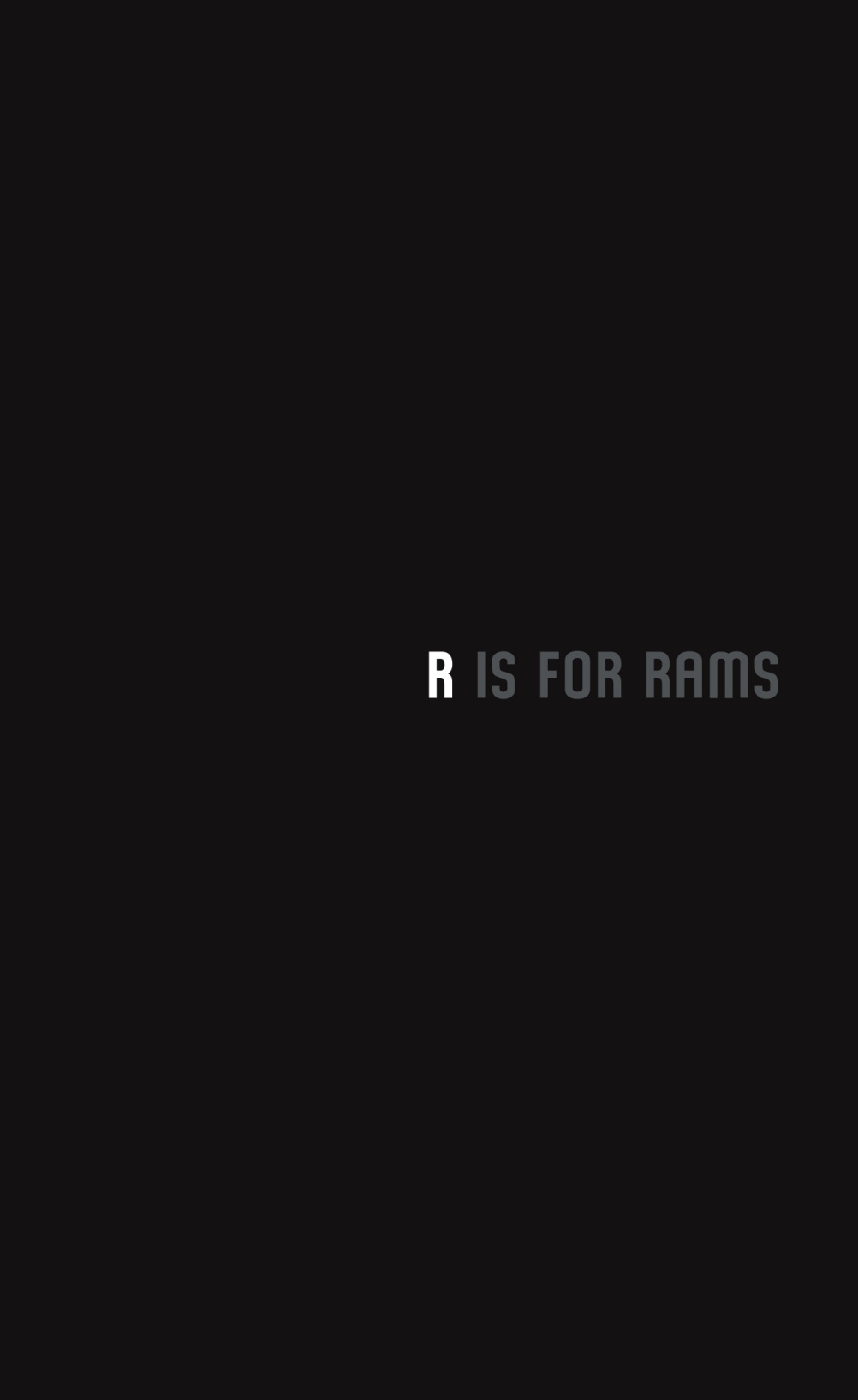 R is for Rams
