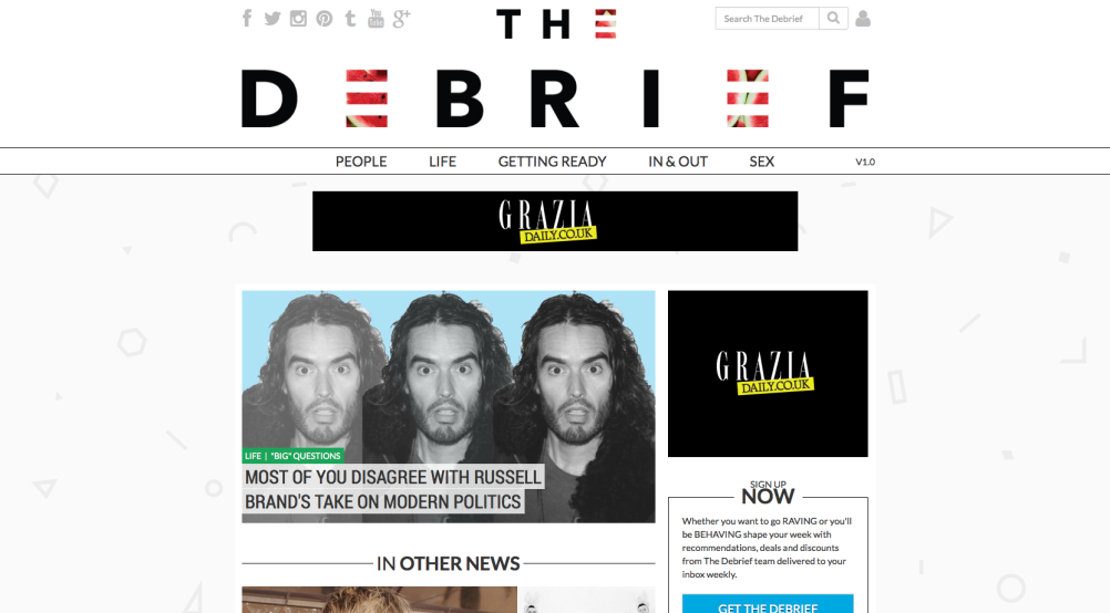 The Debrief homepage
