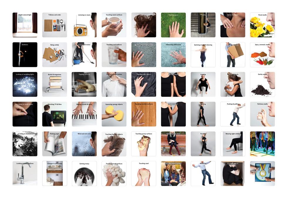 Sensory preference cards