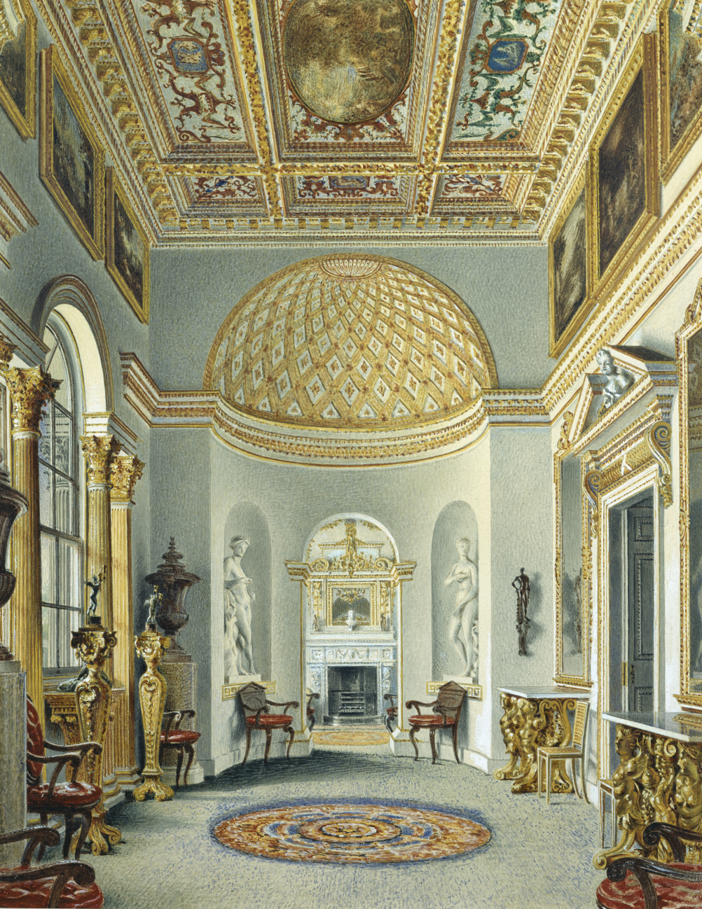 The Gallery Chiswick House by William Henry Hunt 1828. Watercolour Devonshire Collection Chatsworth
