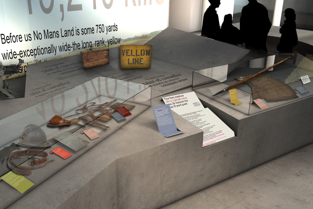How the Total War area of the First World War Galleries might look
