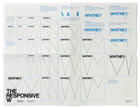 The Whitney Museum's flexible identity, by Experimental Jetset