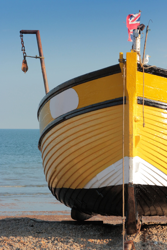 One of the Hastings boats that inspired the designs