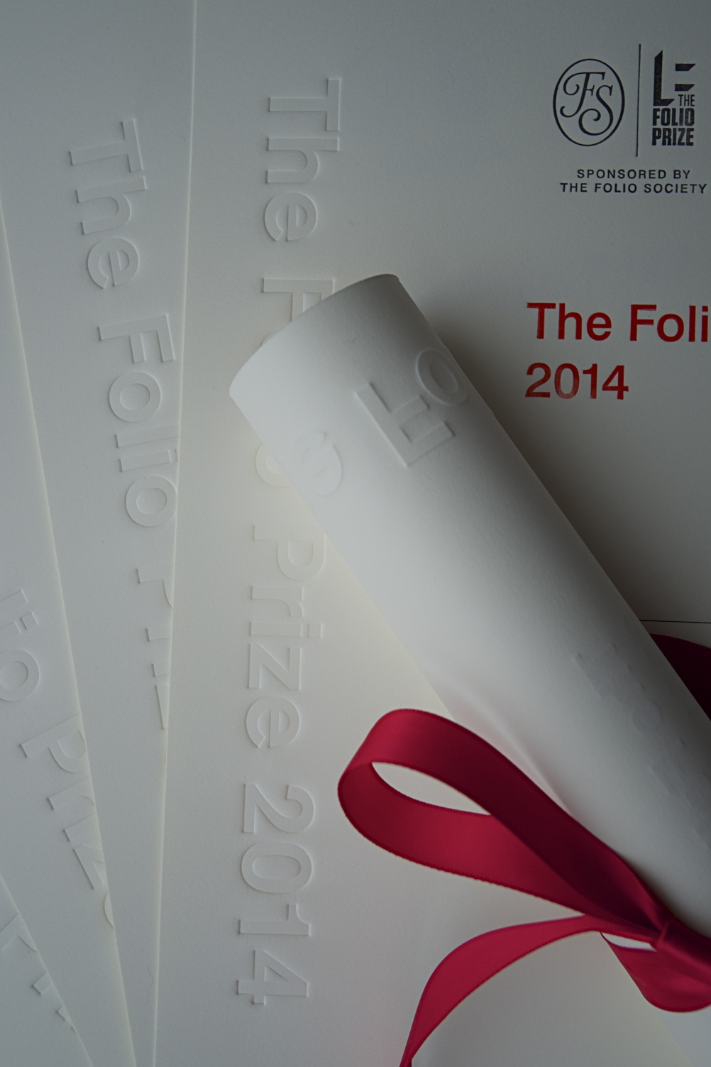 Folio Prize award designed by Sir Kenneth Grange and Mike Dempsey