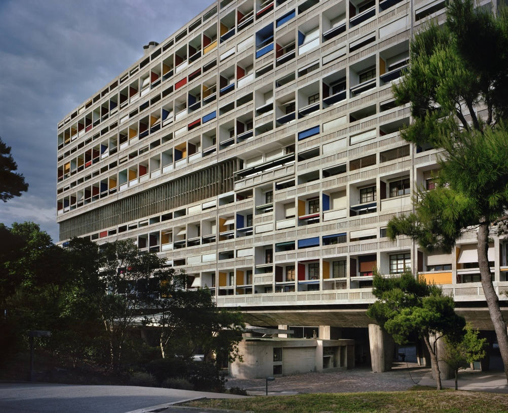 Unite´ d'habitation, Marseilles, 1946-52. General view from the west
