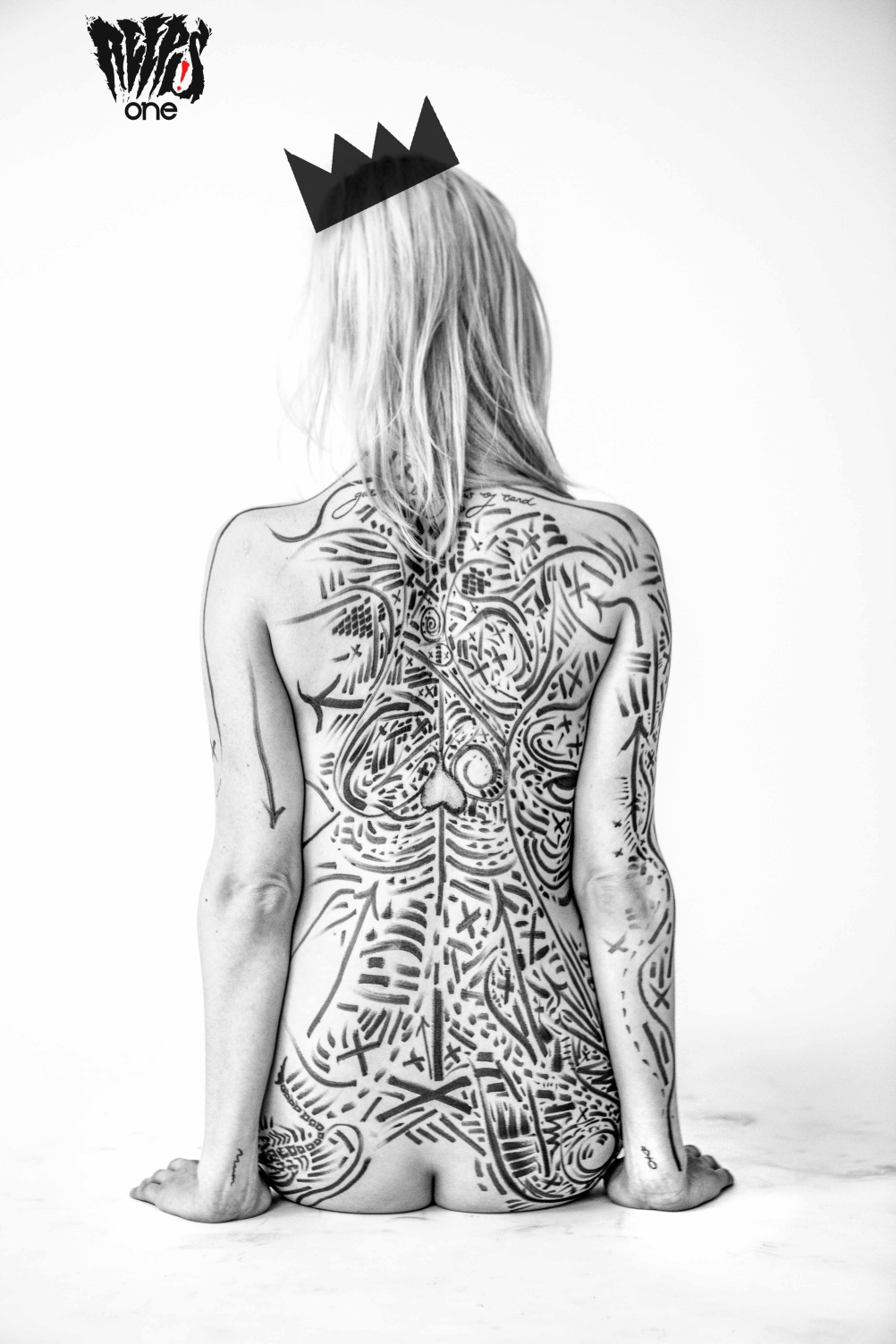Drawn back
