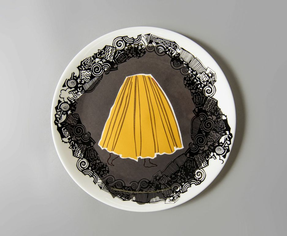 Skirt dish by Charlotte Hodes