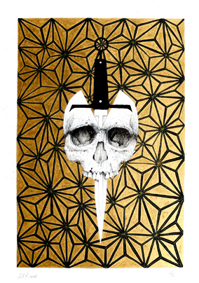 Dagger and Skull, by Mr Four Fingers