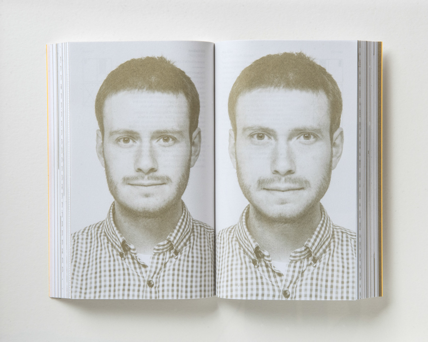 Oli Kellett reworked a portrait of himself based on Golden Ratio proportions