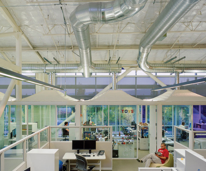 Google headquarters by Clive Wilkinson Architects