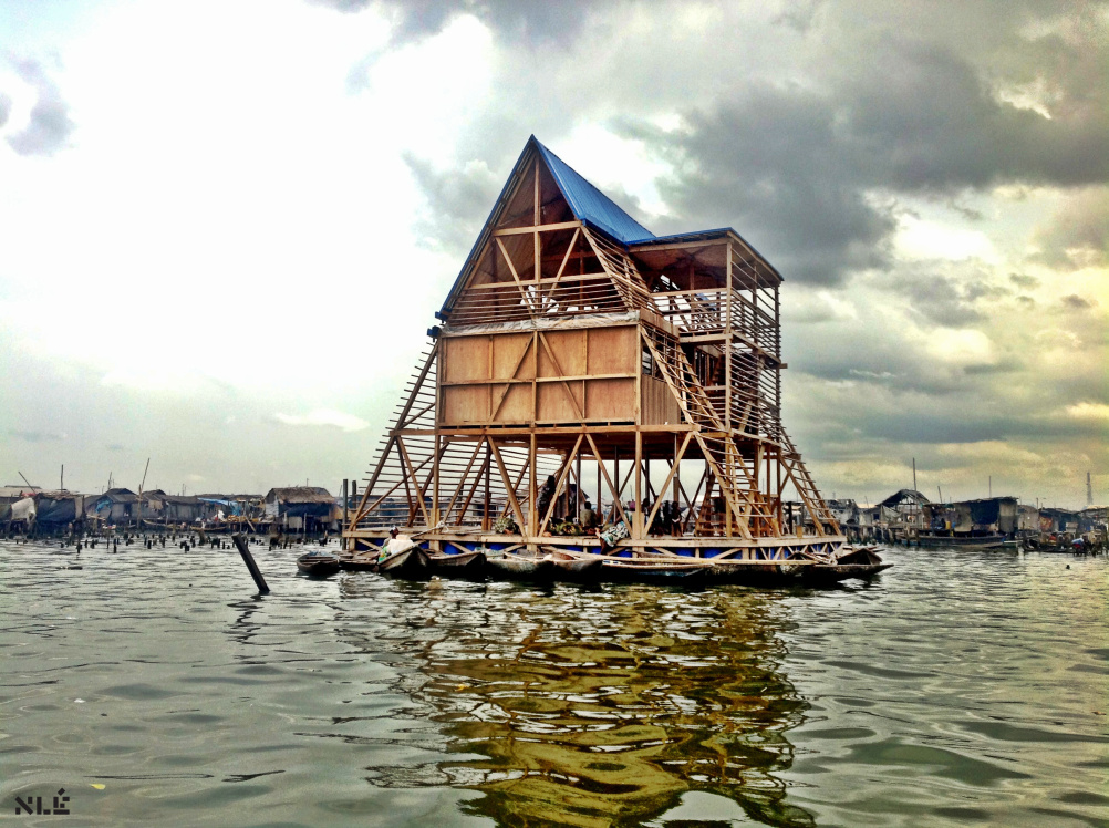 Makoko Floating School - Designed by NLÉ, Makoko Community Building Team