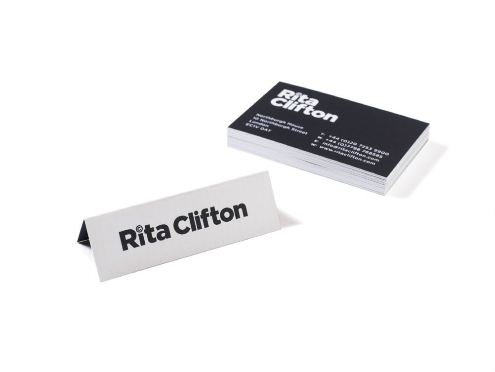 Rita Clifton name cards and business cards