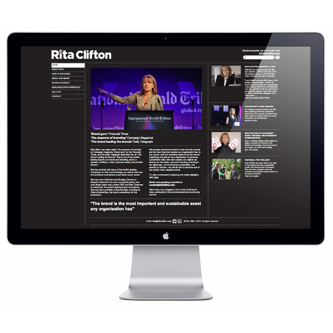 Rita Clifton website