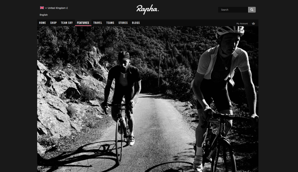 The Rapha website