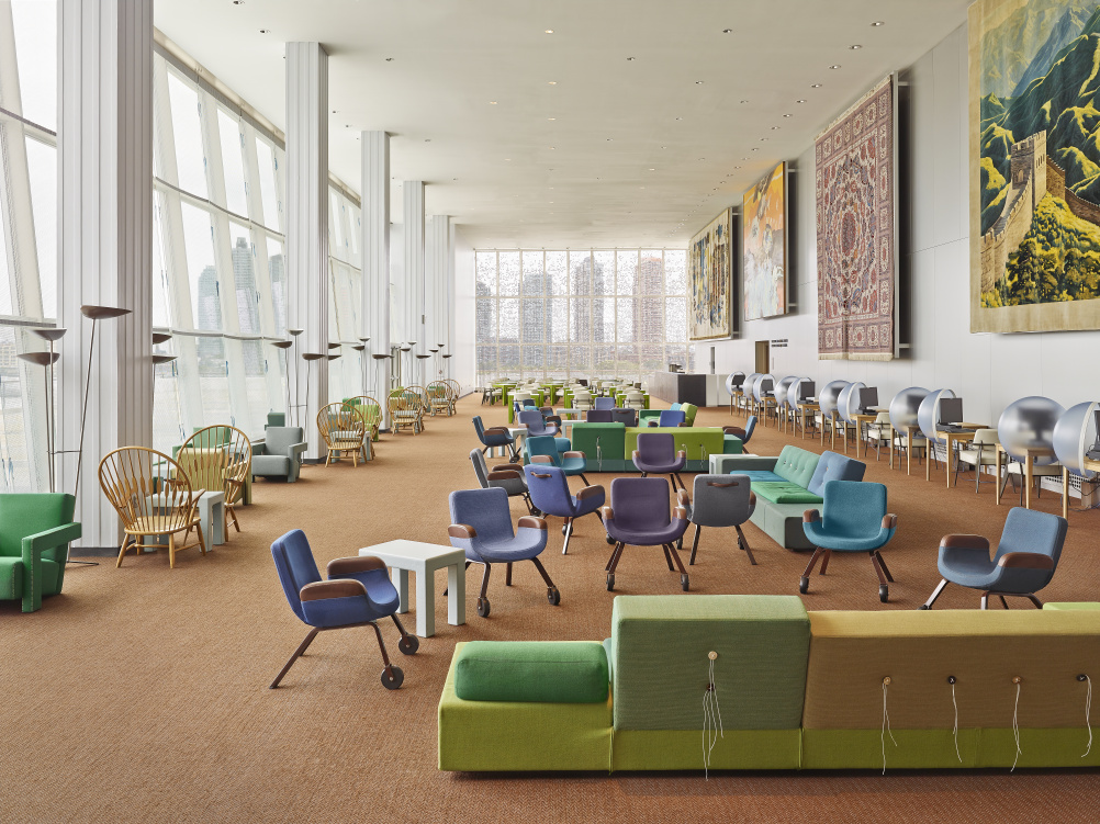 New Interior For United Nations North Delegates' Lounge (New York) - Designed by Hella Jongerius, together with Rem Koolhaas, Irma Boom, Gabriel Lester and Louise Schouwenberg