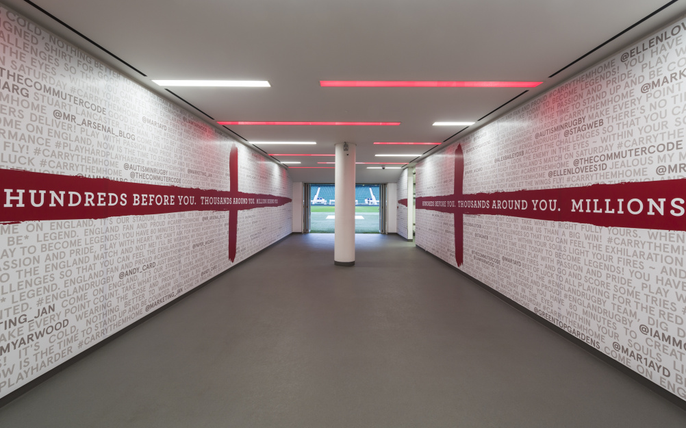 The Twickenham player tunnel