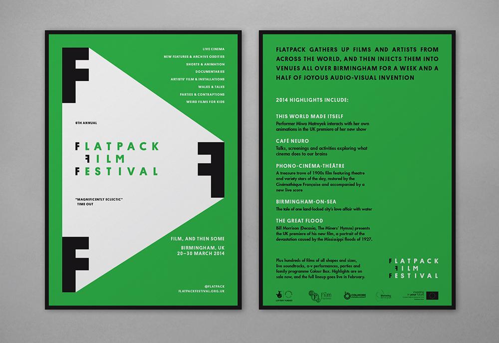 Flatpack Film Festival materials