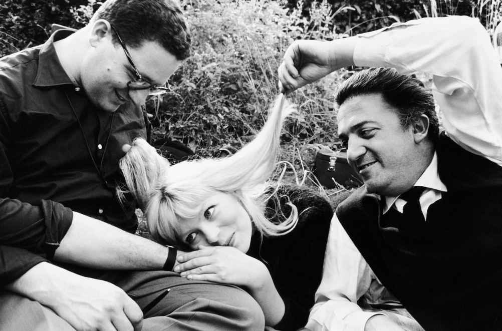 Arturo Zavattini (b. 1930) Set of 'La Dolce Vita'. Assistant cameraman Ennio Guarnieri, Nico Otzak and Federico Fellini, 1960
