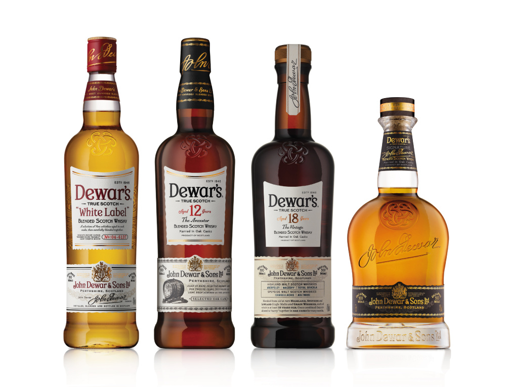 New look for Dewar's range