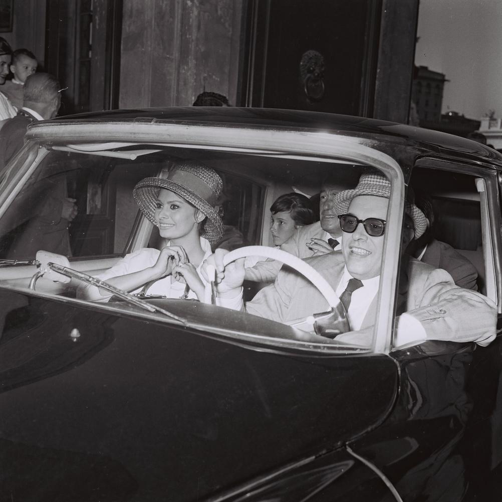 Marcello Geppetti (1933-1998) Carlo Ponti, Sophia Loren and Vittorio De Sica, Rome, 1961