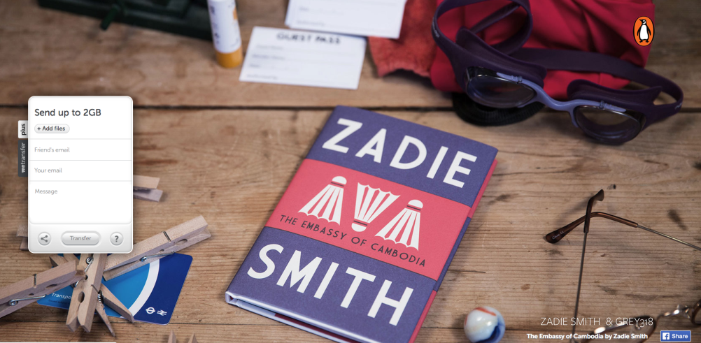 Zadie Smith, Embassy of Cambodia (Cover: gray318)