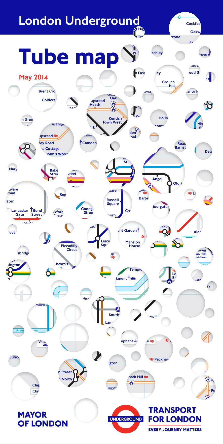 Rachel Whiteread's tube map cover