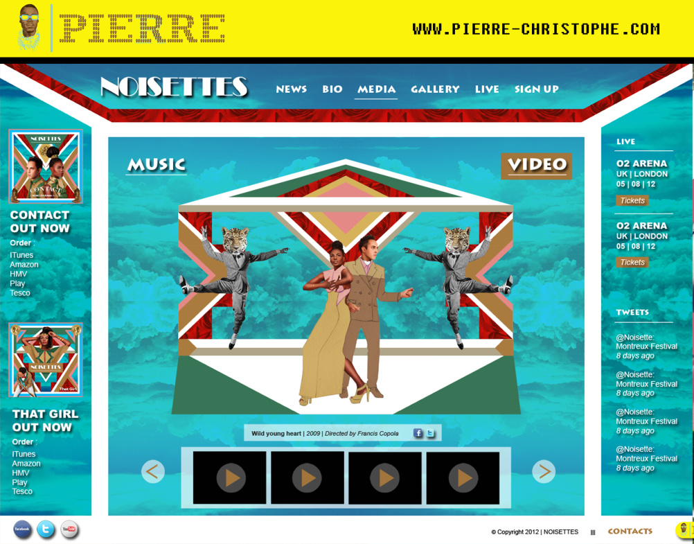 Noisettes website