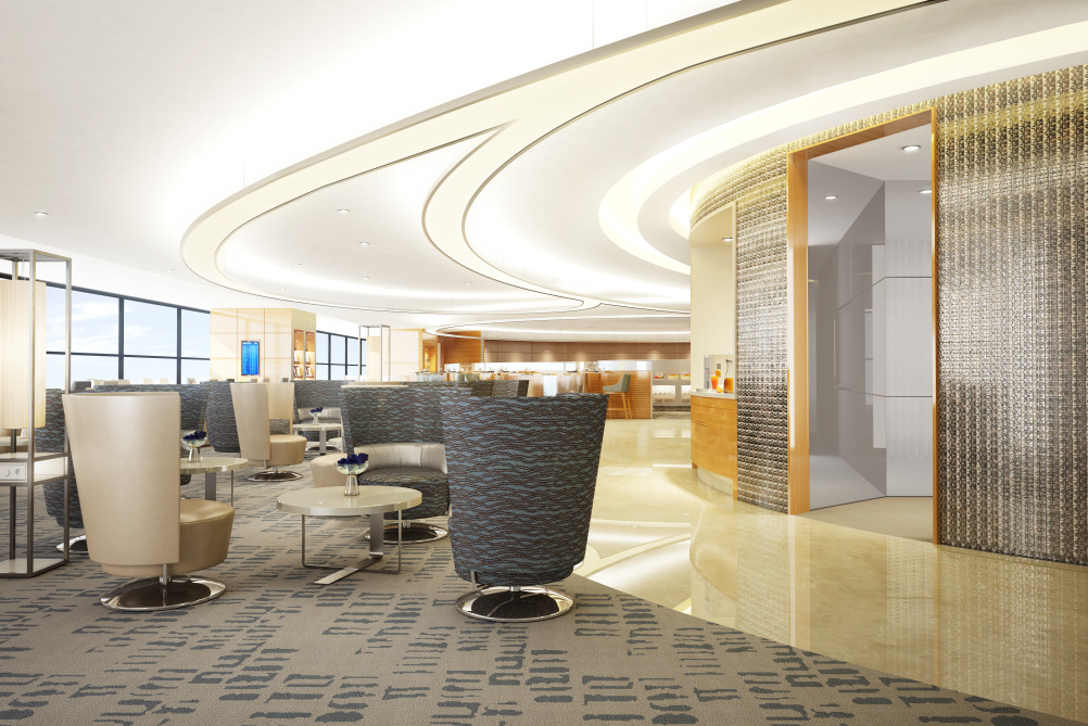 Air China Pudong. First and business class lounge