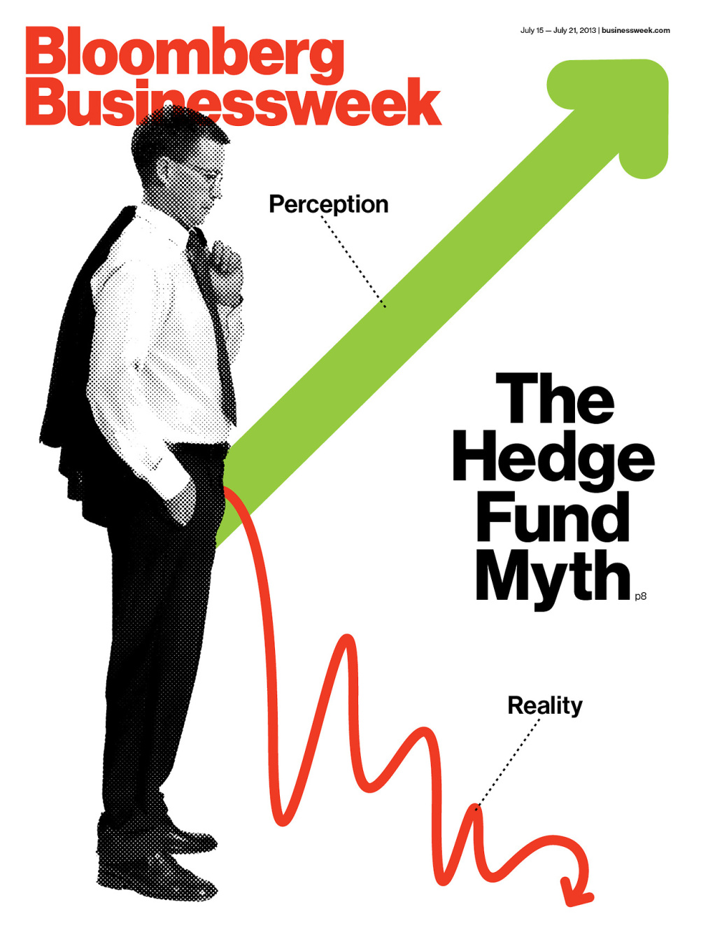 Bloomburg Businessweek cover by Richard Turley