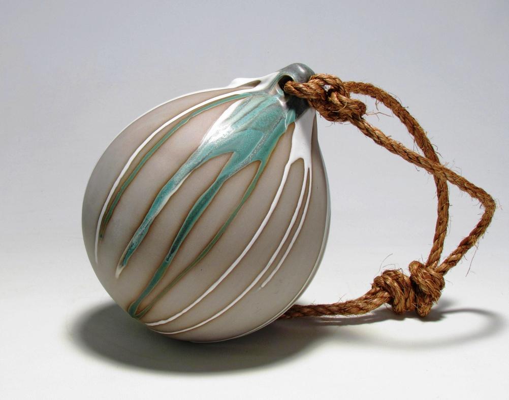 Cast Stoneware - Clare McComish, Buoy without encrustations