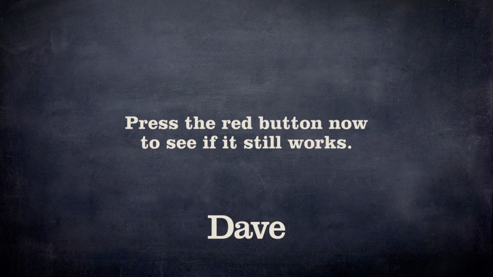 Dave channel branding still
