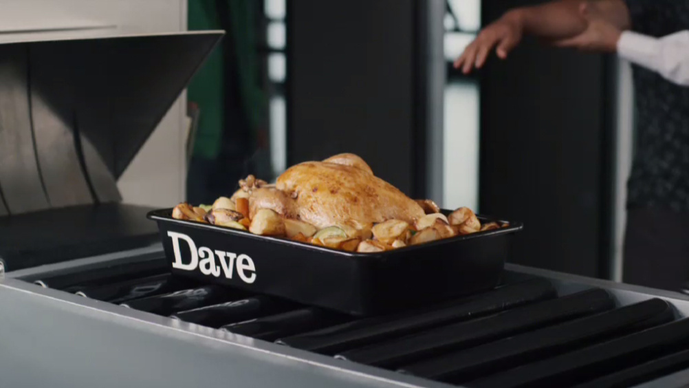 Dave chicken airport ident still