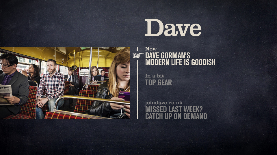 Dave on-air menu still