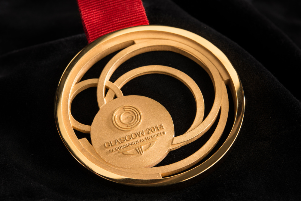 Close-up of the Gold medal
