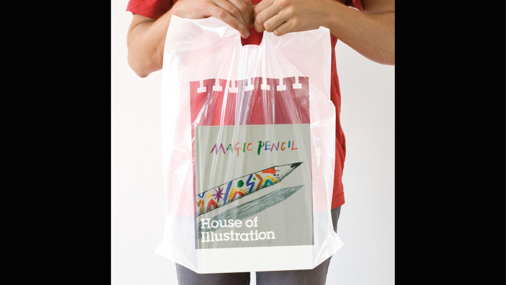 House of Illustration carrier bag