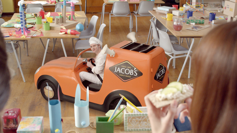 Still from the new Jacob's ad campaign